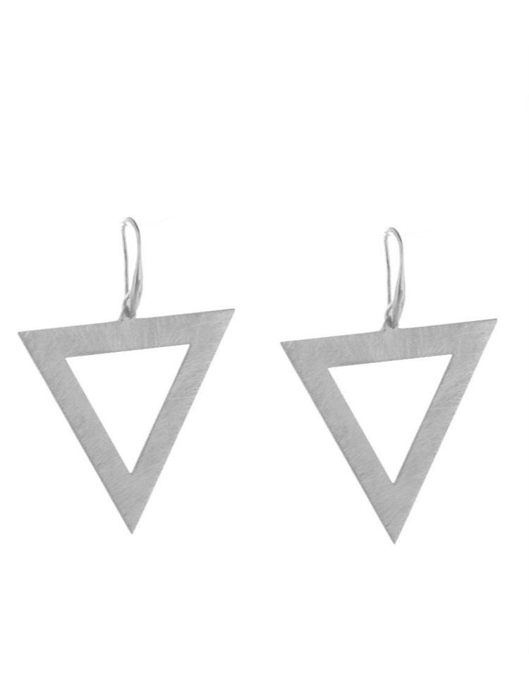 c801721b83 Μοντέρνο ζευγάρι σκουλαρίκια γεωμετρικό σχέδιο από ασήμι