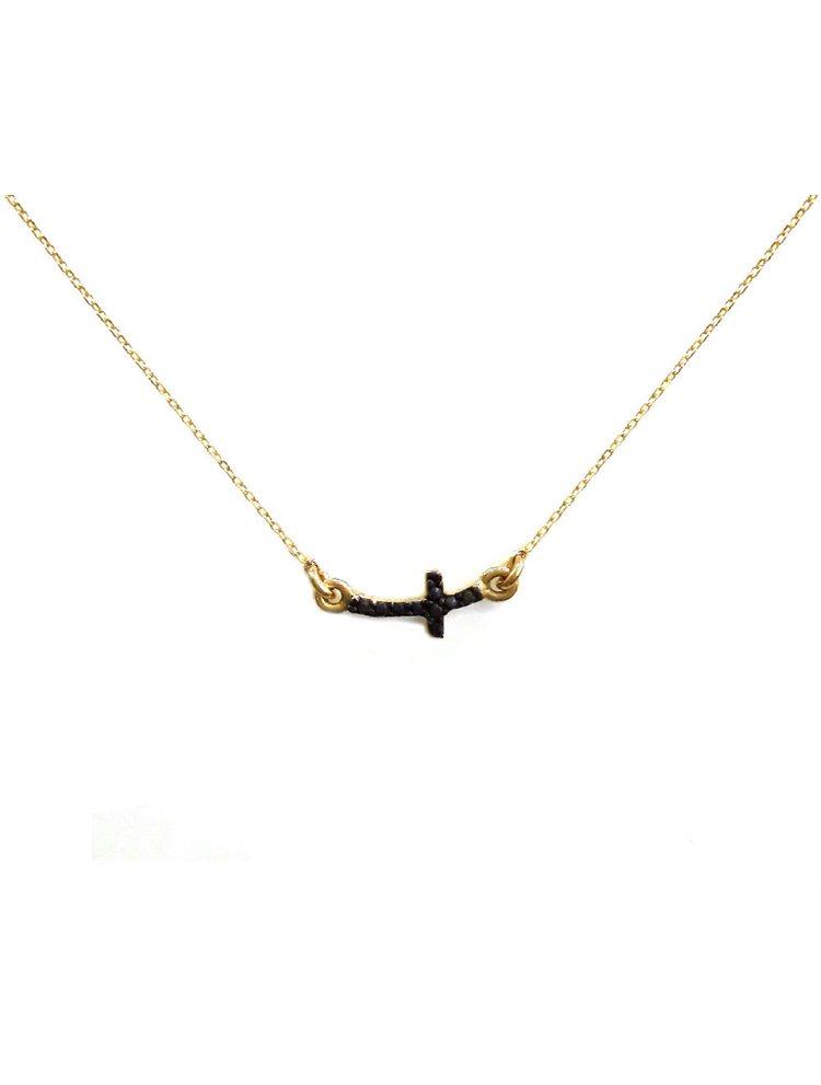 Κολιέ σταυρός από επιχρυσωμένο ασήμι