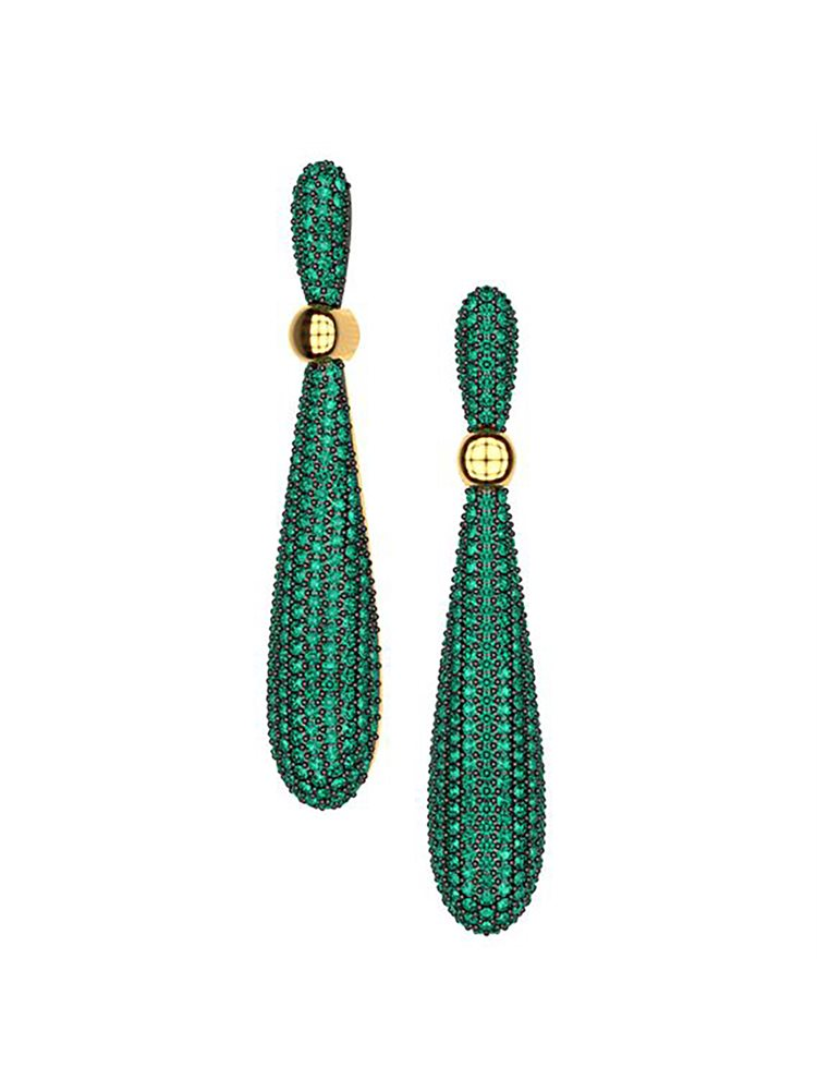 Εντυπωσιακά σκουλαρίκια συλλογή Corina από επιχρυσωμένο ασήμι με πέτρες Swarovski