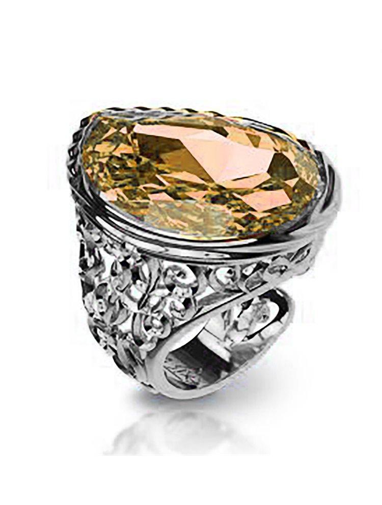 Εντυπωσιακό δαχτυλίδι swarovski συλλογή arabesque από ασήμι με πέτρα Swarovski