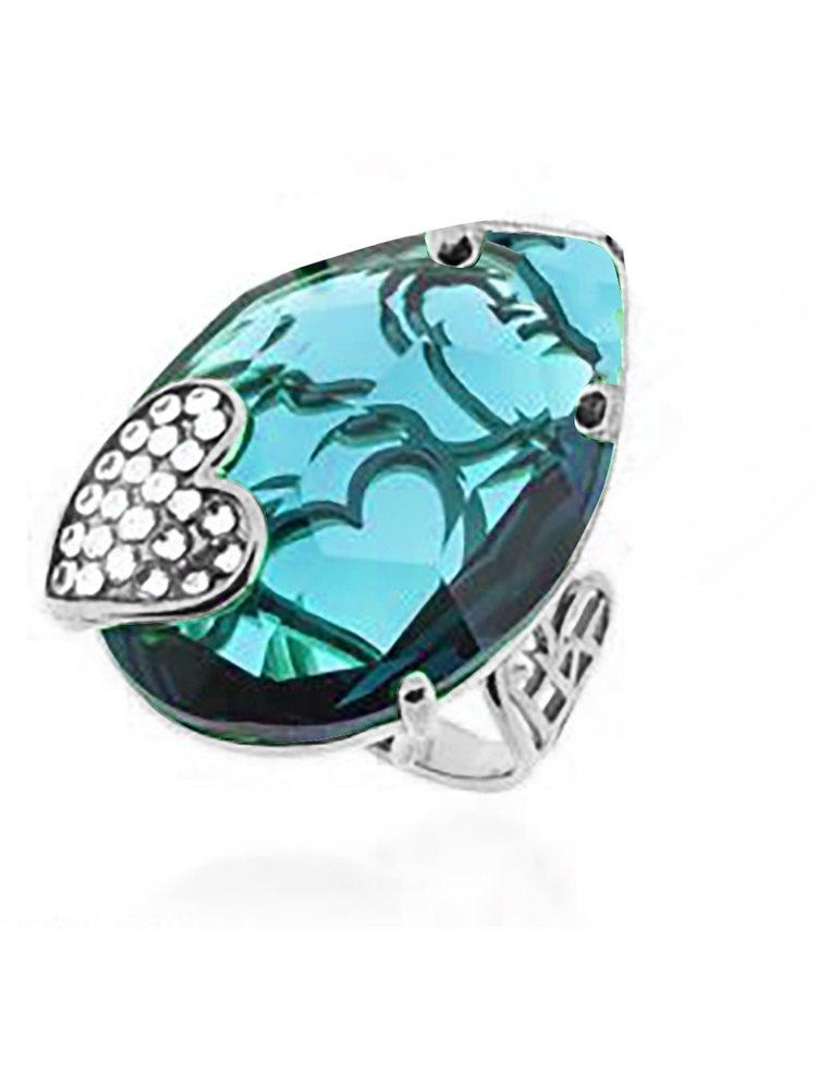 Εντυπωσιακό δαχτυλίδι swarovski συλλογή Desire από ασήμι με πέτρα Swarovski