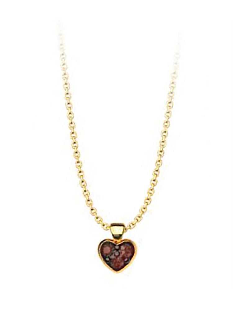 Κολιέ συλλογή Love καρδιά από επιχρυσωμένο ασήμι με πέτρες Swarovski