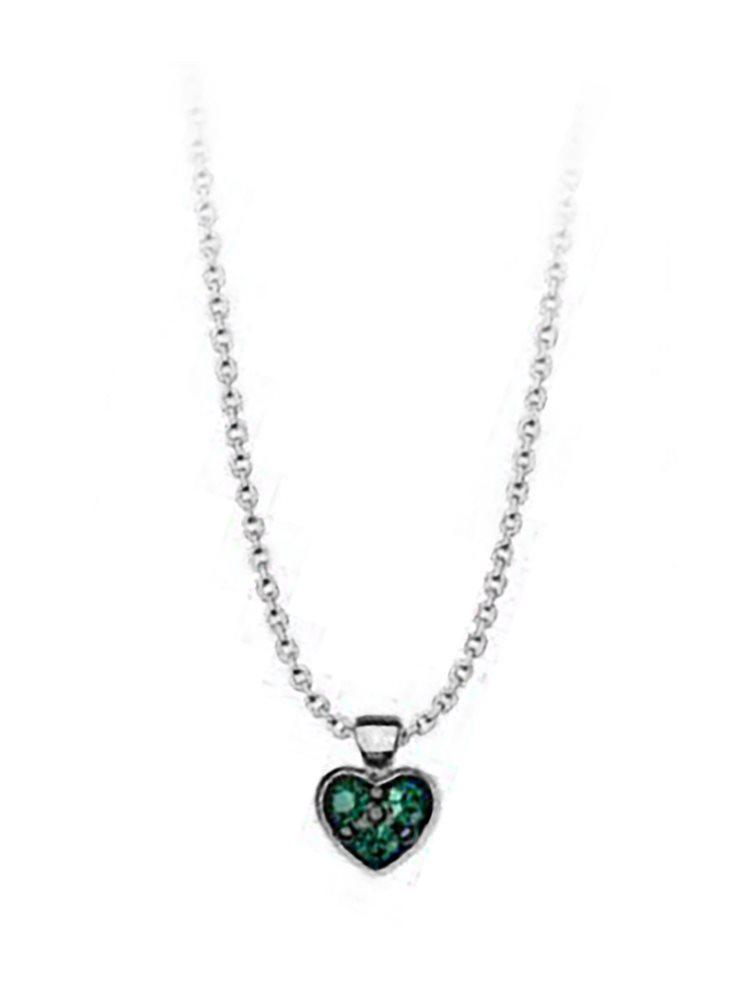 Κολιέ συλλογή Love καρδιά από ασήμι με πέτρες Swarovski