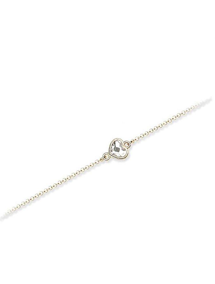 Βραχιόλι συλλογή Love καρδιά από επιχρυσωμένο ασήμι με πέτρες Swarovski 45b0e3c63d4