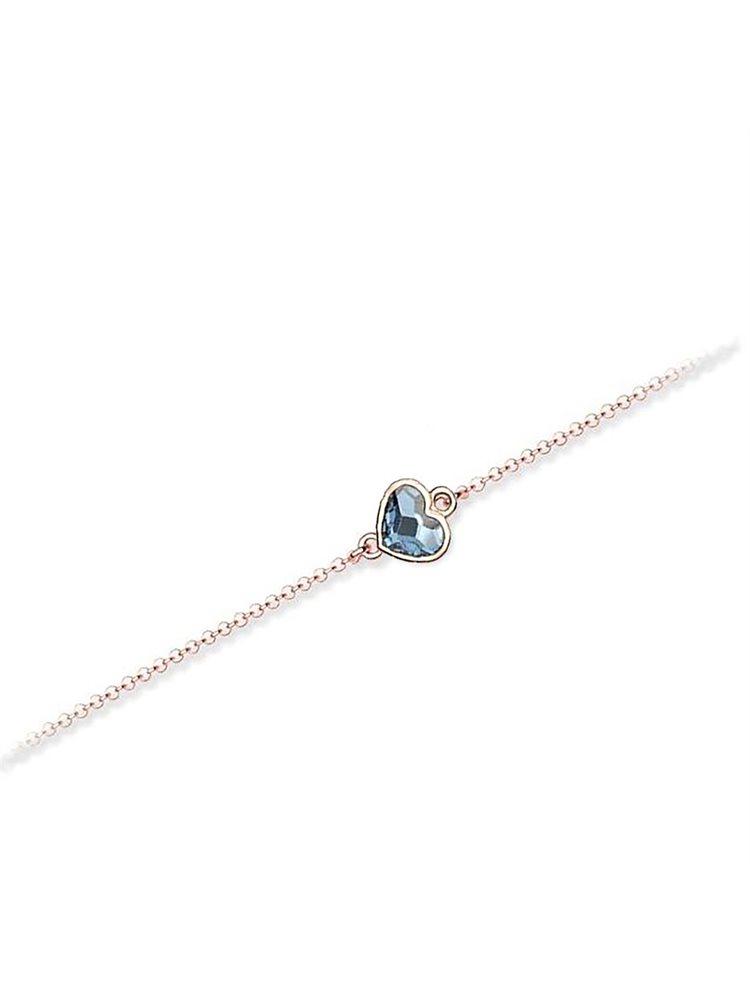 Βραχιόλι συλλογή Love καρδιά από ρόζ επιχρυσωμένο ασήμι με πέτρες Swarovski 08165640a8f