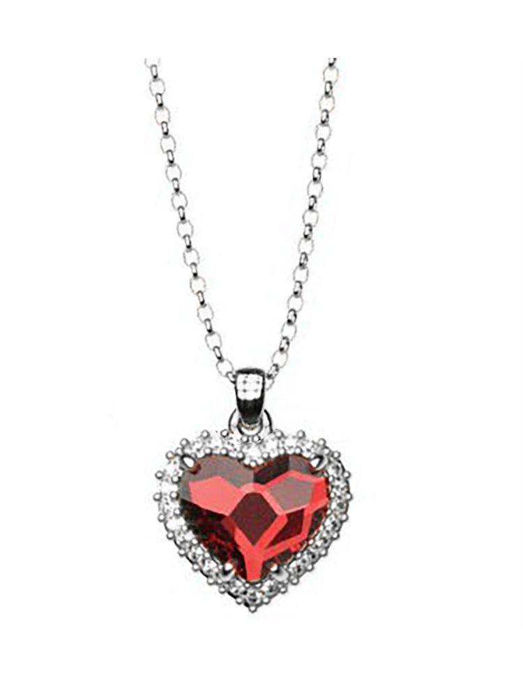 Κολιέ συλλογή Love καρδιά από ασήμι με πέτρα Swarovski  8352d9d15cc