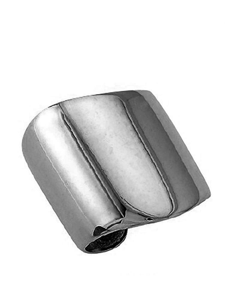Χειροποίητο μοντέρνο δαχτυλίδι από ασήμι με μαύρο πλατίνωμα