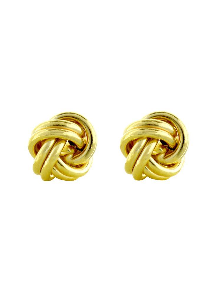 Χρυσά Σκουλαρίκια 9 καρατίων πλεκτά