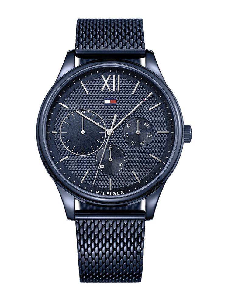 Ρολόι ανδρικό Tommy Hilfiger Damon Multifunction με μπρασελέ και μπλε καντράν 1791421