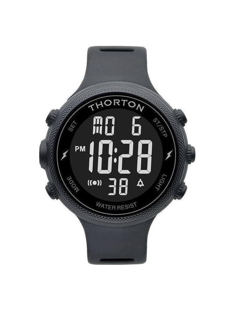 Ρολόι Ανδρικό THORTON Sigurd Black Rubber Strap 9101301