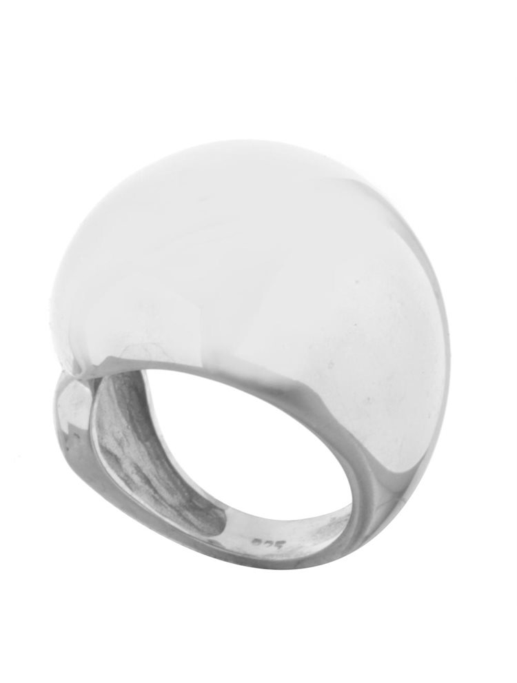 Ασημένιο δαχτυλίδι σεβαλιέ χειροποίητο λουστράτο