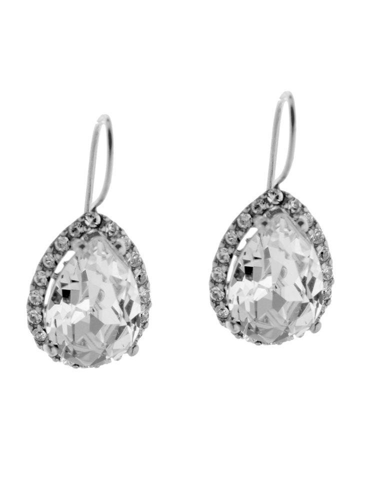 Εντυπωσιακά σκουλαρίκια Swarovski από ασήμι με πέτρες Swarovski