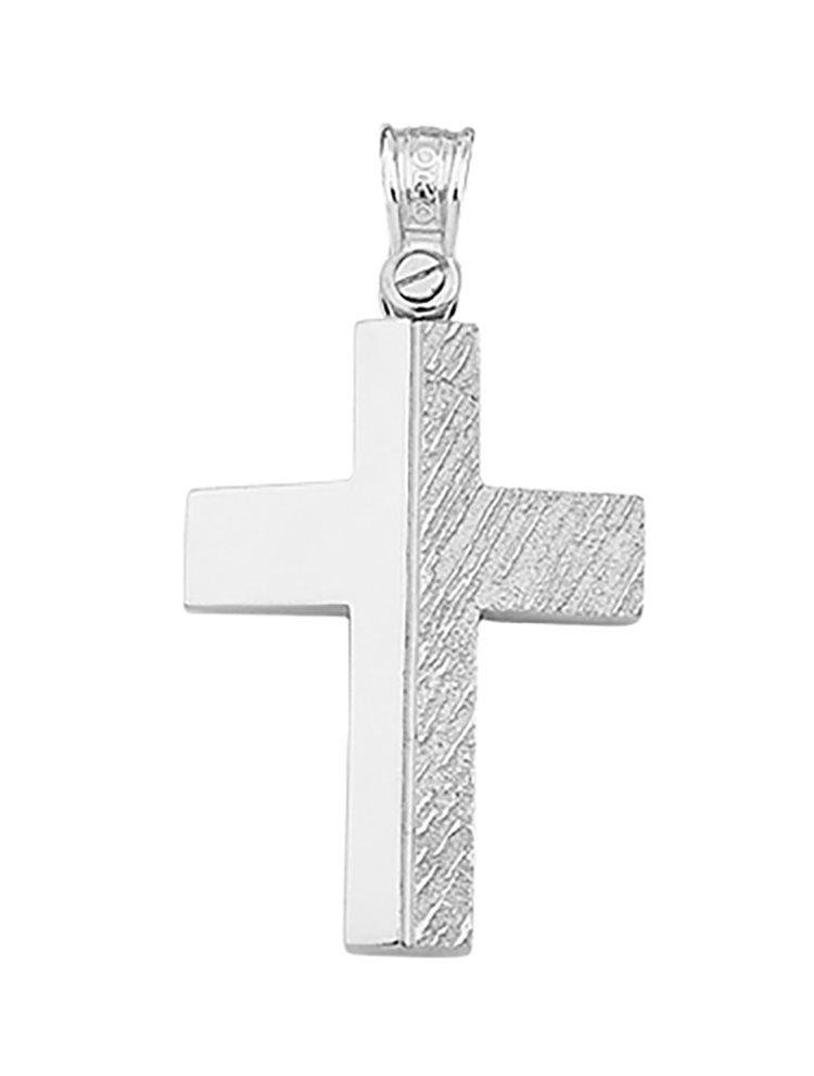 Βαπτιστικός σταυρός λευκόχρυσο 14 καρατίων | Σταυρός βάπτισης K14