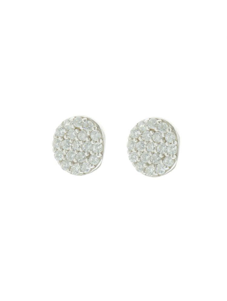 Ασημένια σκουλαρίκια με πέτρες ζιργκόν