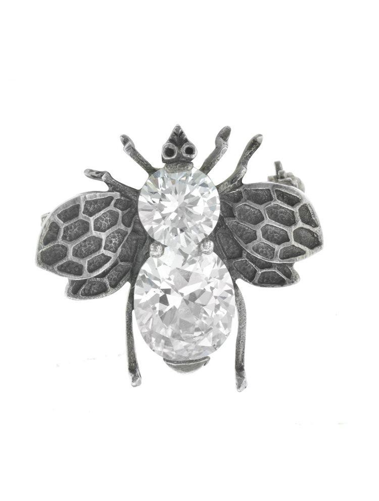 Γυναικεία καρφίτσα μελισσα με εντυπωσιακή πέτρα ζιργκόν