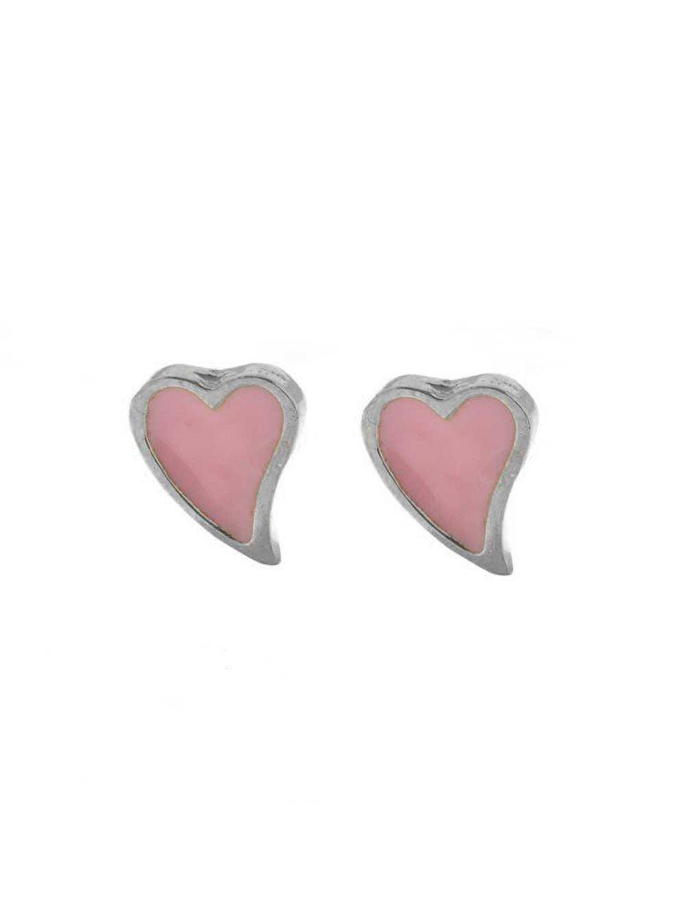 Παιδικά σκουλαρίκια από ασήμι καρδιά