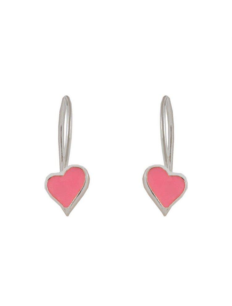 Παιδικά σκουλαρίκια από ασήμι καρδιές