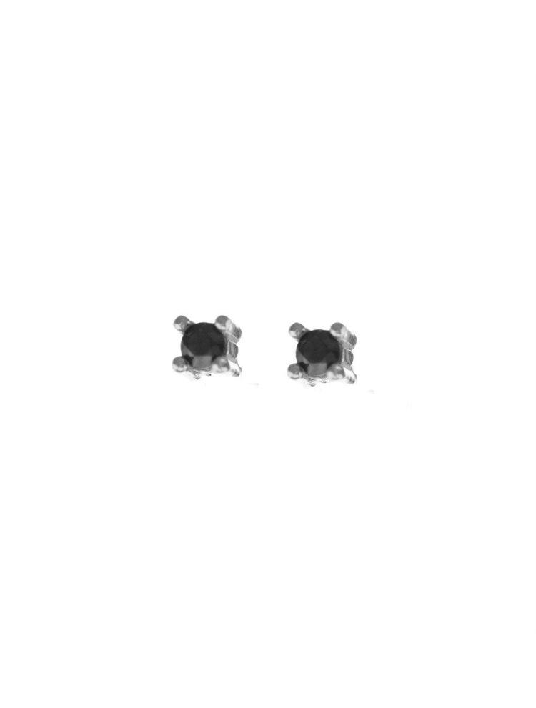 Σκουλαρίκια γυναικεία από ασήμι με πέτρα μικροσκοπική ζιργκόν