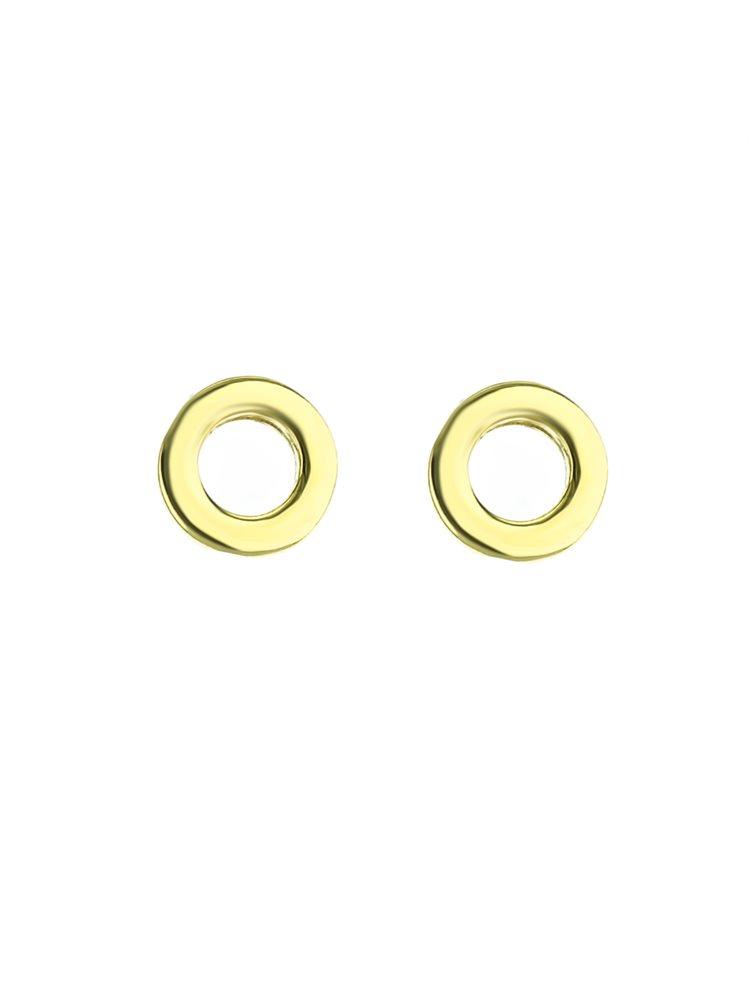 Σκουλαρίκια κύκλοι επιχρυσωμένο ασήμι