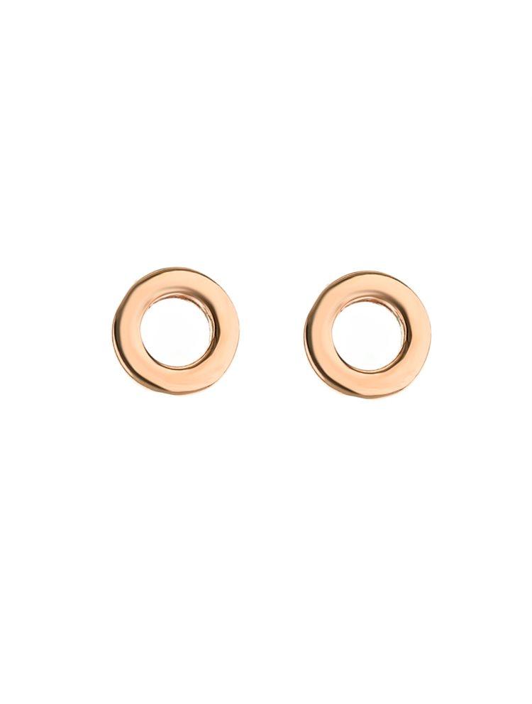 Σκουλαρίκια κύκλοι ρόζ επιχρυσωμένο ασήμι