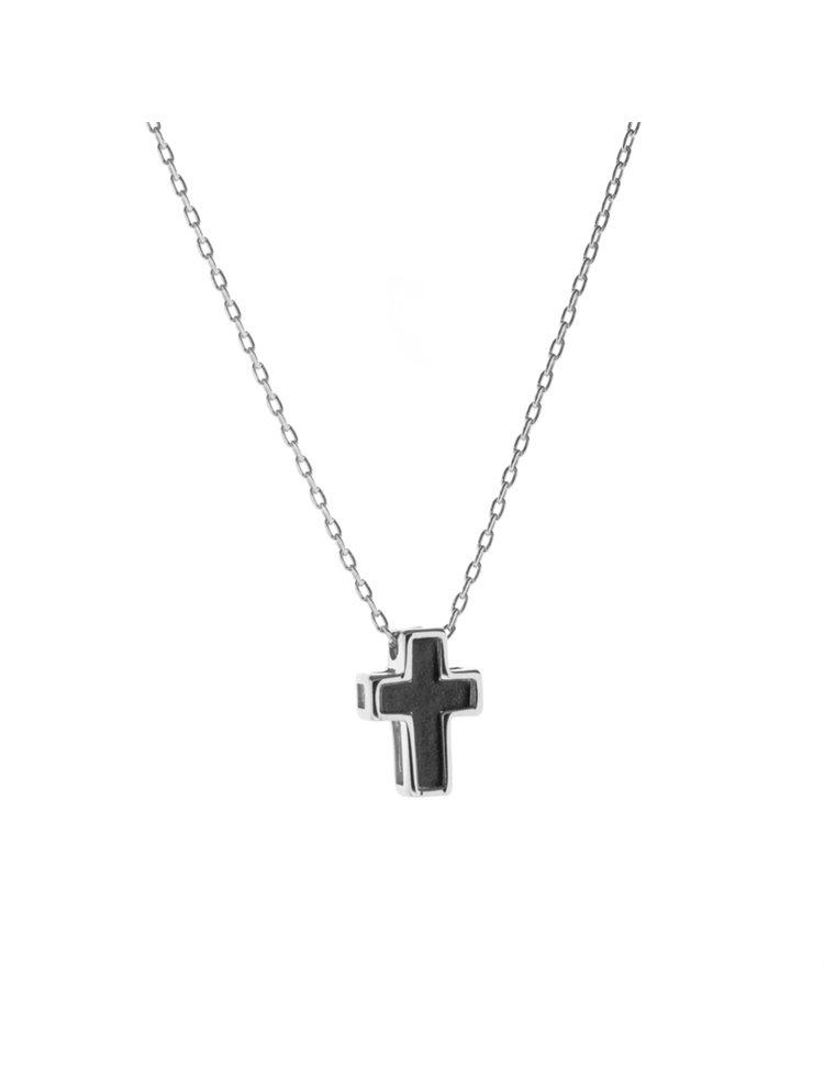 Κολιέ σταυρός από ασήμι