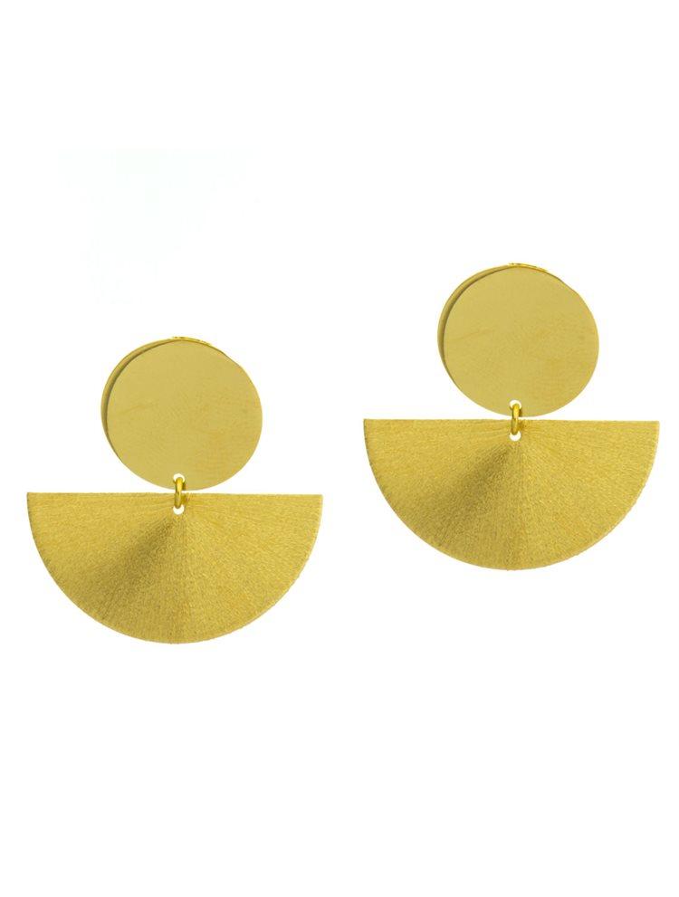 Εντυπωσιακά μοντέρνα σκουλαρίκια από επιχρυσωμένο ασήμι