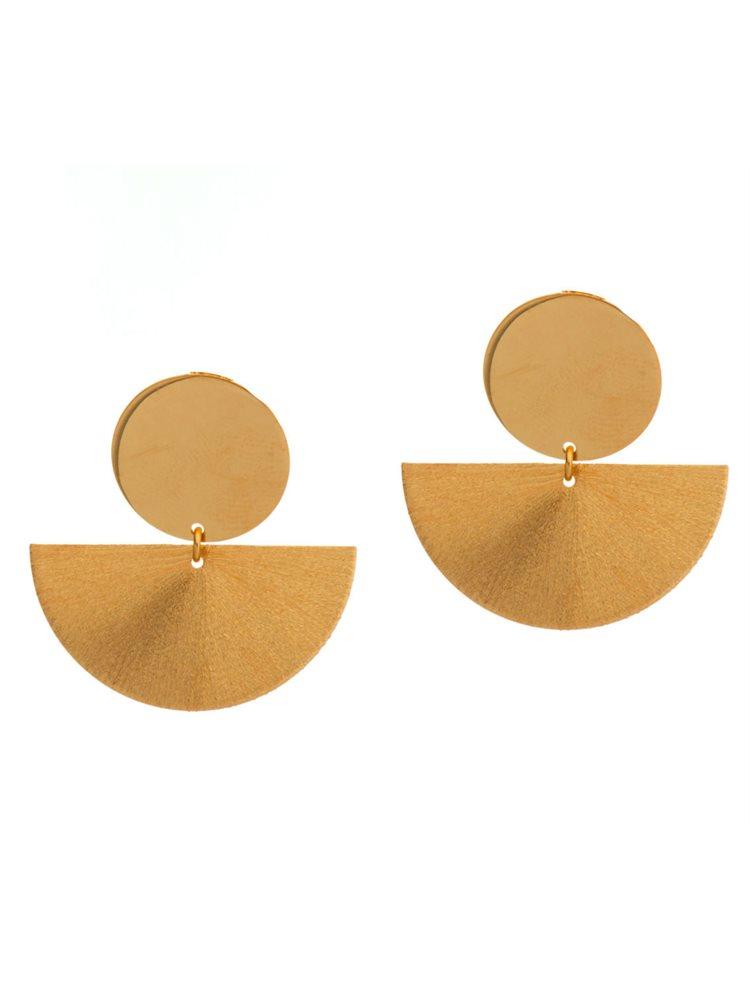 Εντυπωσιακά μοντέρνα σκουλαρίκια από ρόζ επιχρυσωμένο ασήμι