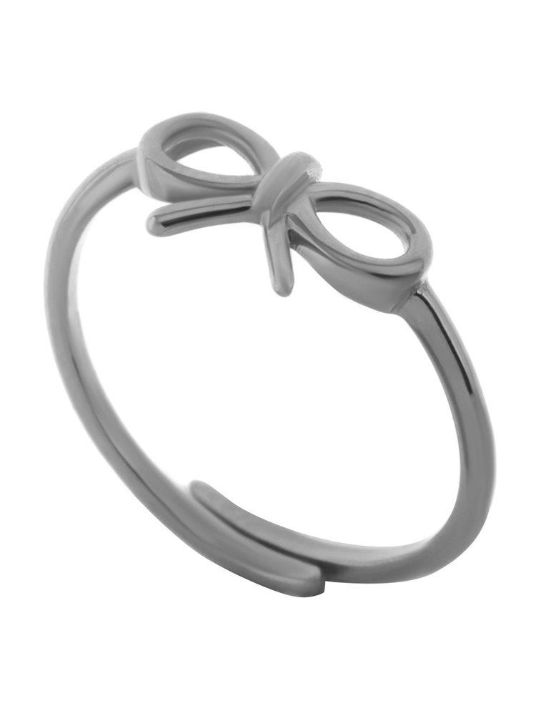 Δαχτυλίδι φιογκάκι από ασήμι