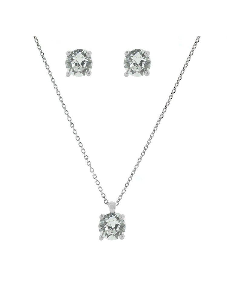 Νυφικό σέτ σκουλαρίκια και κολιέ συλλογή Bridal 2019 από ασήμι με πέτρες Swarovski