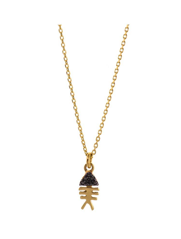 Κολιέ ψαροκόκκαλο summer Collection από επιχρυσωμένο ασήμι