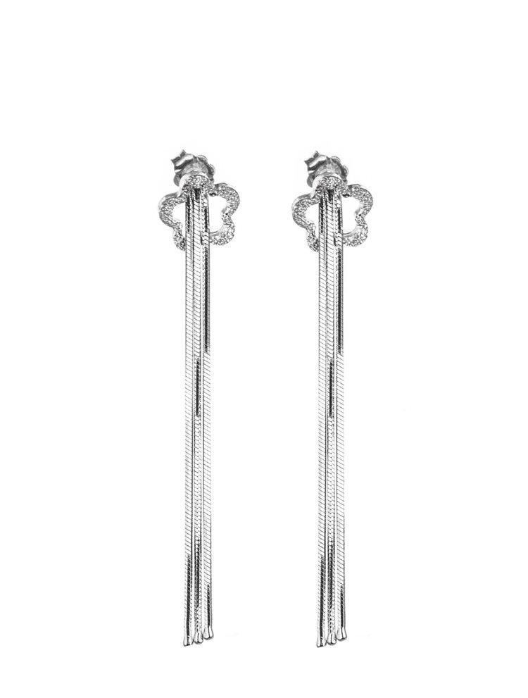 Σκουλαρίκια από ασήμι με λουστράτες αλυσίδες