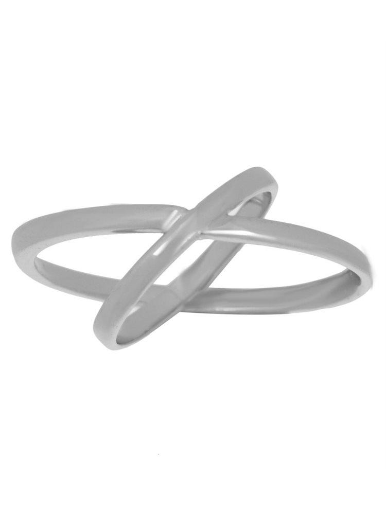 Δαχτυλίδι διπλό βεράκι από ασήμι