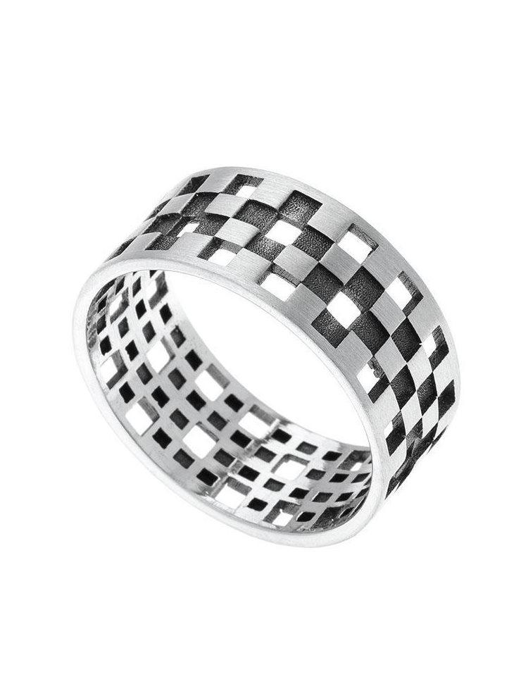 Ανδρικό μοντέρνο δαχτυλίδι από ασήμι 925