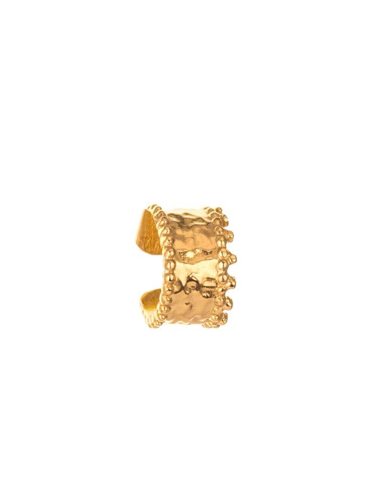 Σκουλαρίκι cuff από επιχρυσωμένο ασήμι για το πάνω μέρος του αυτιού
