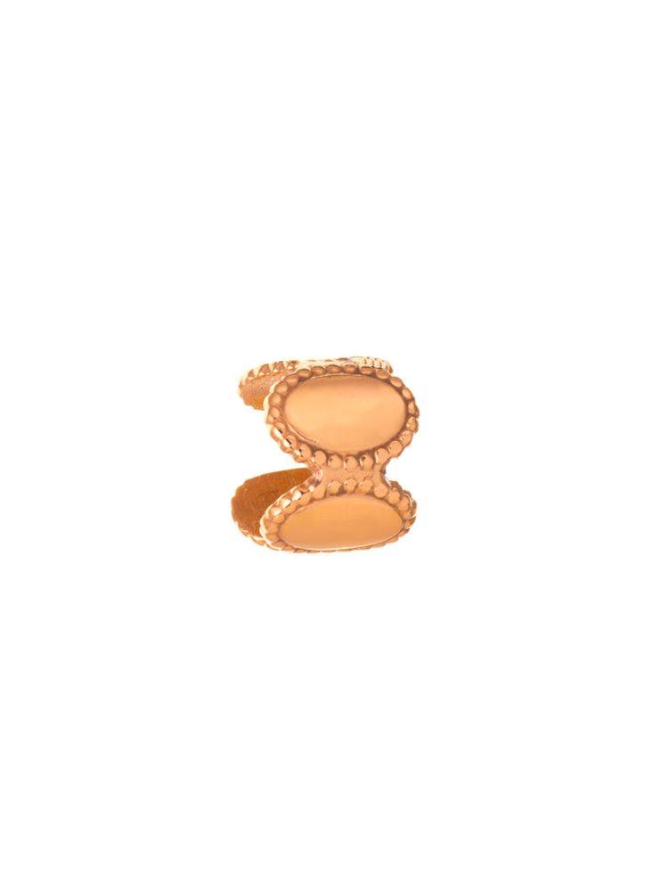 Σκουλαρίκι cuff από ρόζ επιχρυσωμένο ασήμι για το πάνω μέρος του αυτιού