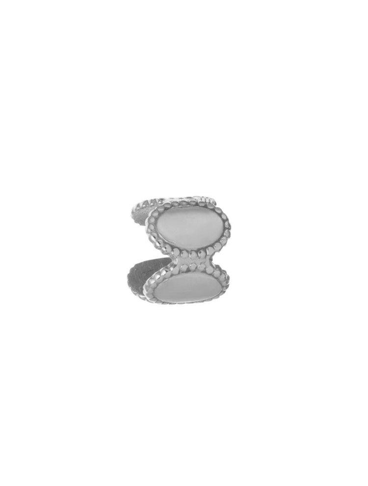 Σκουλαρίκι cuff από ασήμι για το πάνω μέρος του αυτιού