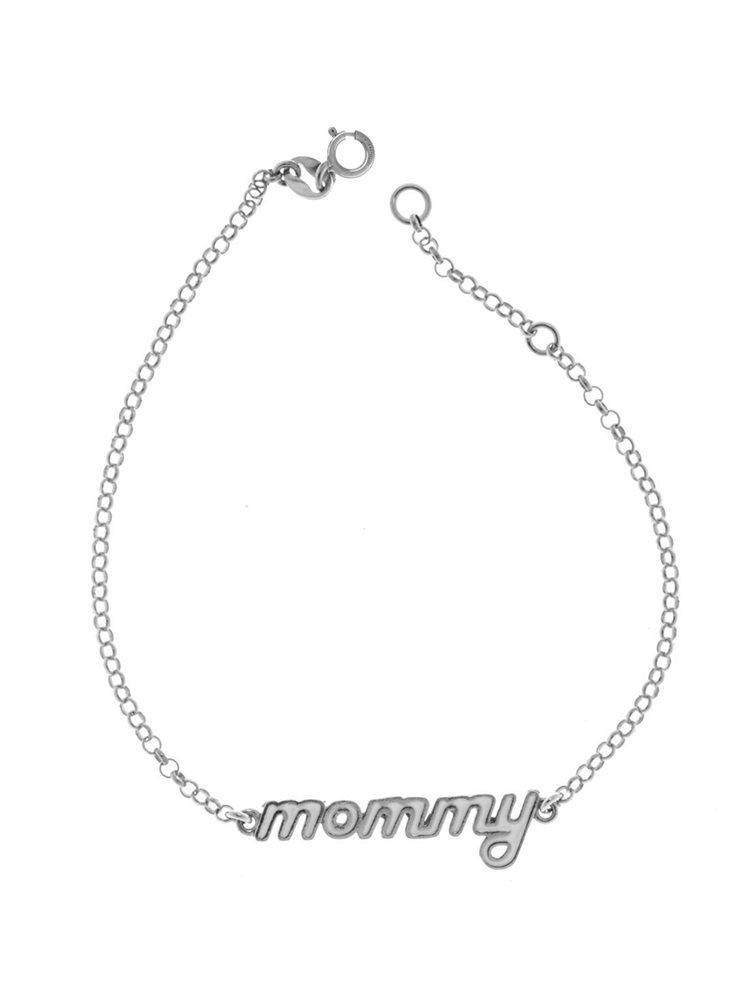 Διακριτικό βραχιόλι από ασήμι με mommy με σμάλτο