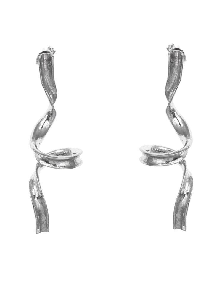 Σκουλαρίκια χειροποίητα κρεμαστά από ασήμι