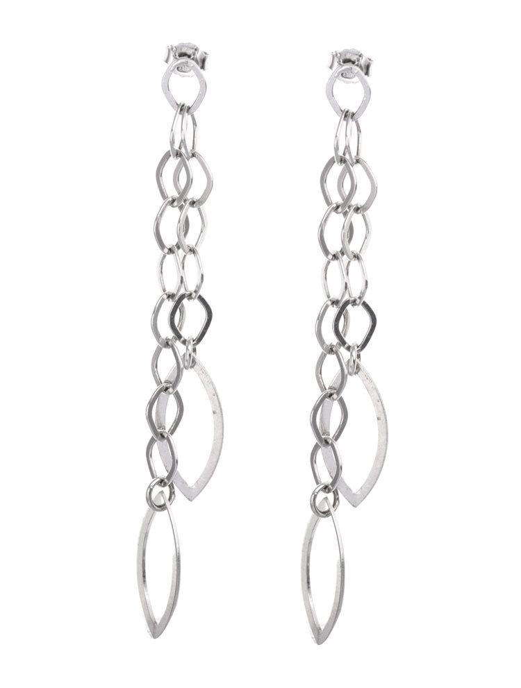 Σκουλαρίκια κρεμαστά από ασήμι με αλυσίδες