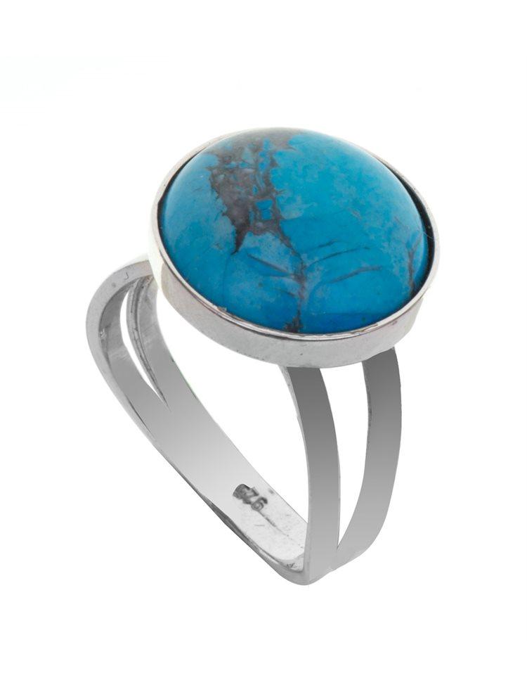 Δαχτυλίδι από ασήμι με πέτρα τυρκουάζ