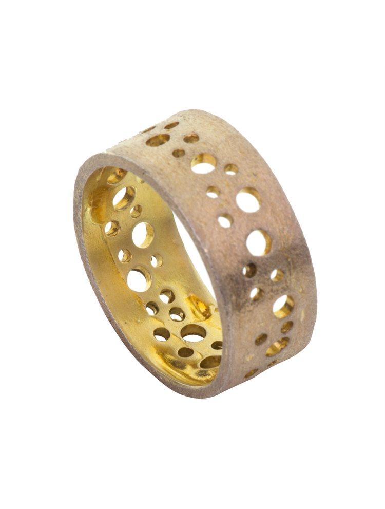 Δαχτυλίδι από δίχρωμο ασήμι