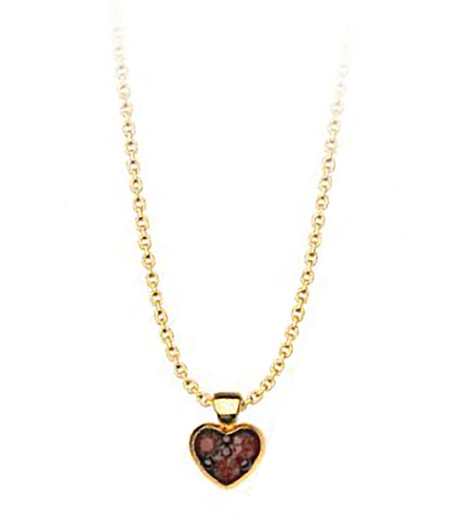 Κολιέ συλλογή Love καρδιά από επιχρυσωμένο ασήμι με πέτρες Swarovski b014c319e7a