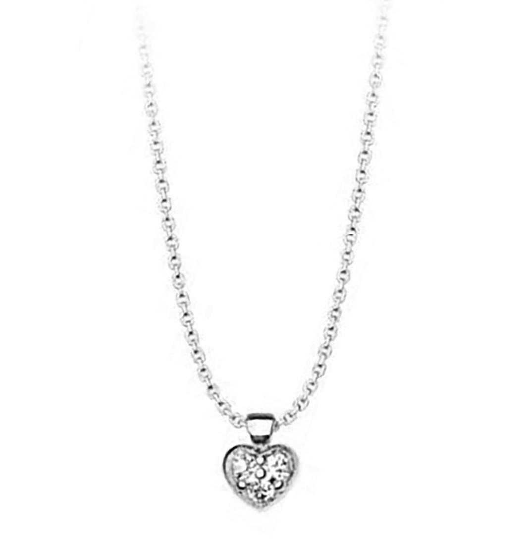 Κολιέ συλλογή Love καρδιά από ασήμι με πέτρες Swarovski 637f7743cd5