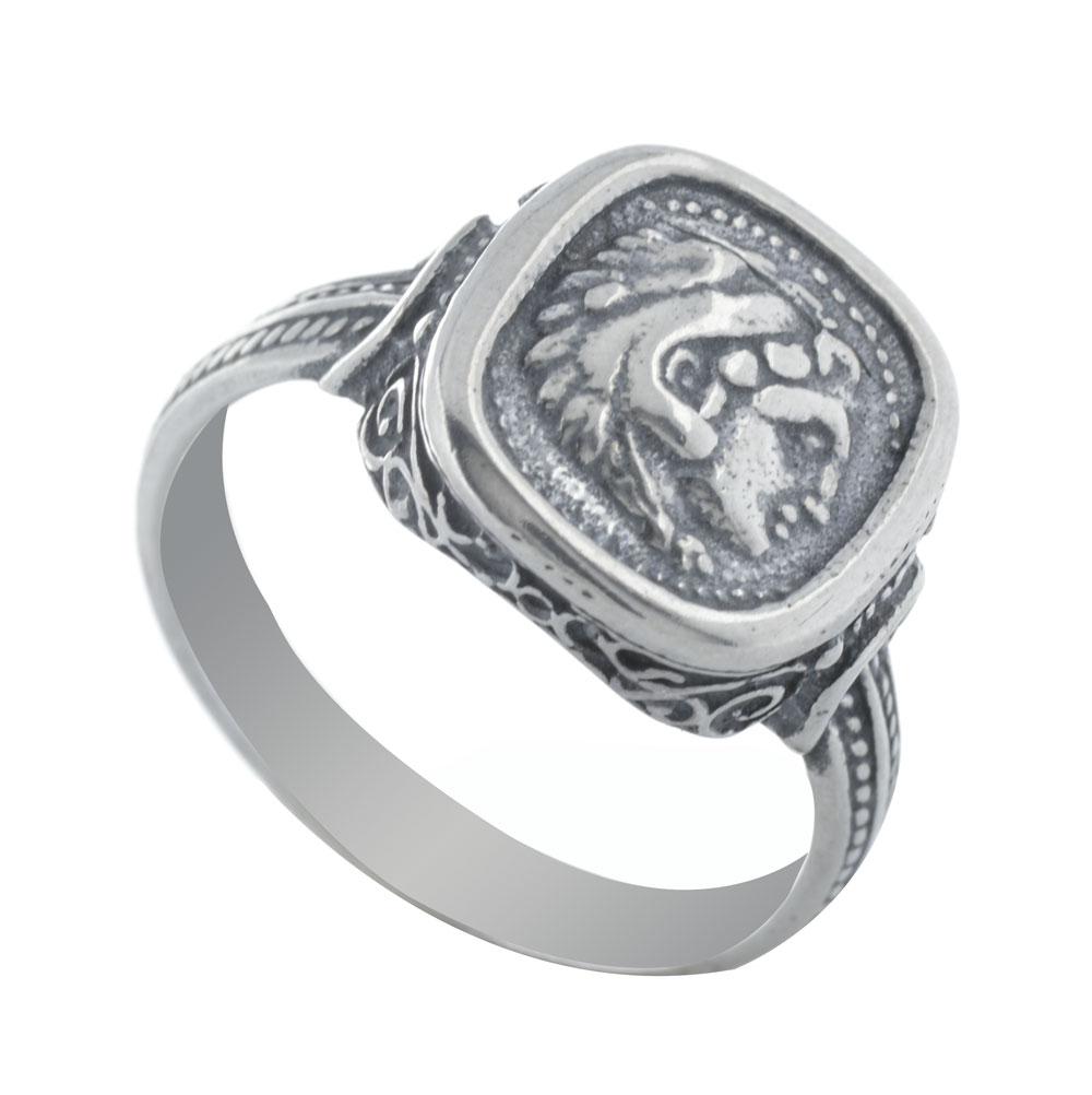 Ανδρικό δαχτυλίδι από ασήμι με τον Μέγα Αλέξανδρο cec6d1bb908